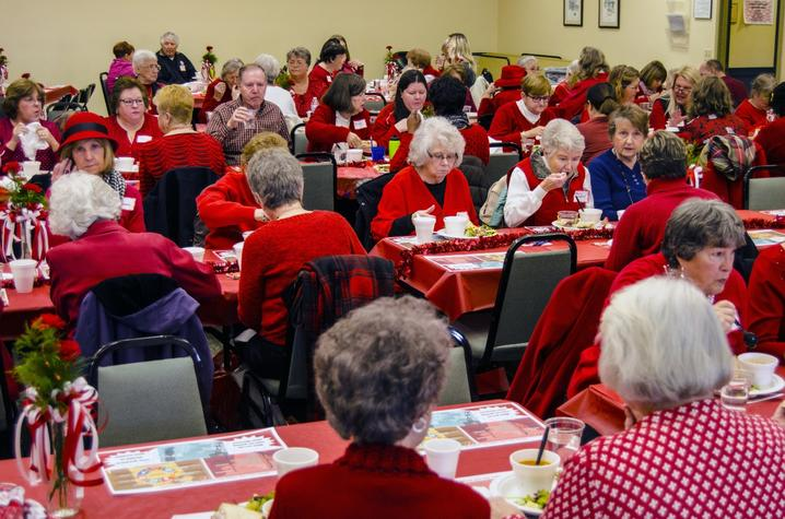 photo of Go Red for Heart Health luncheon - Shelby Co Cooperative Extension