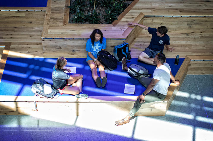 This is a photo of students enjoying the Gatton Student Center.