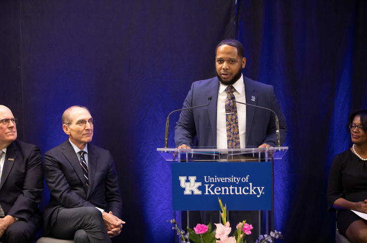 Martin Luther King Center's new director Jason Brooks and other UK leaders open the new MLK Center