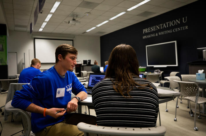 Peer tutors at Presentation U