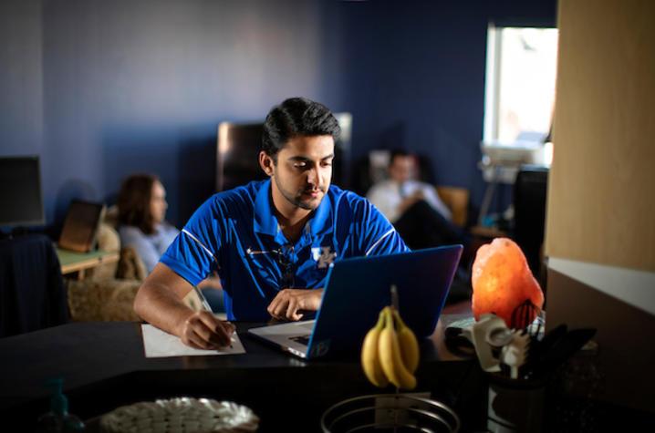 photo of guy at computer