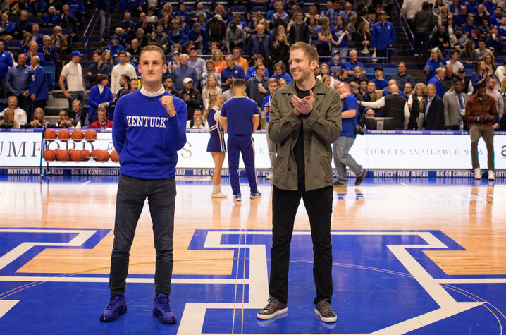 This is a photo of Ed Berry (L) and Chad Sanders (R), both UK graduates.
