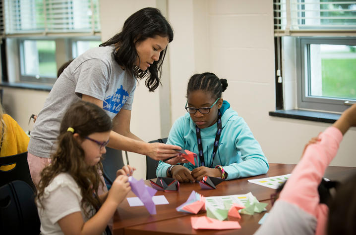 This is a photo from See Blue STEM Camp.
