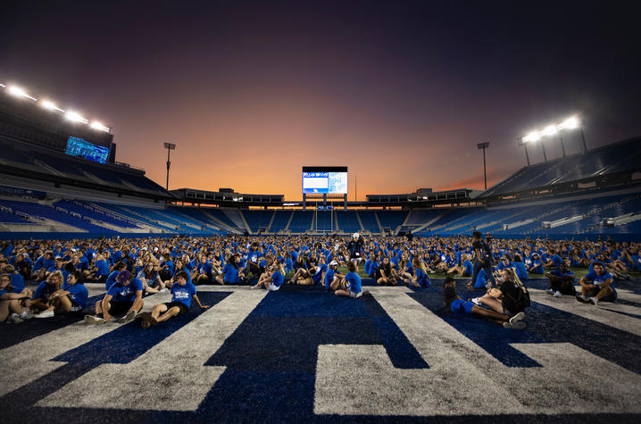 This is a photo of UK's Fall 2019 Incoming Class during K-Week.