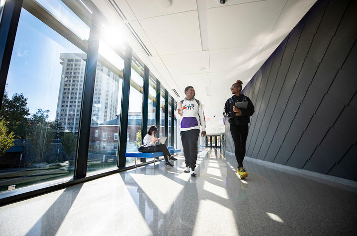 Photo of students walking in the Gatton Student Center