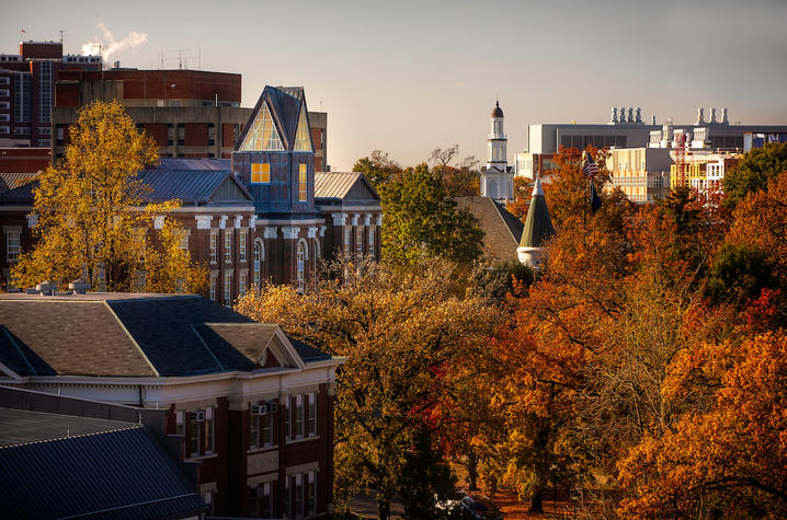 UK campus in the autumn