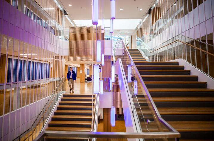 Interior of J. David Rosenberg College of Law building on UK campus