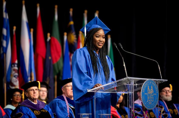 Ndeye Matou Amar, December 2019 Student Speaker