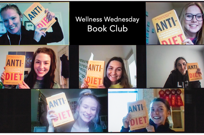 Dietetics and human nutrition students in the Wellness Wednesday Book Club participate in their first meeting
