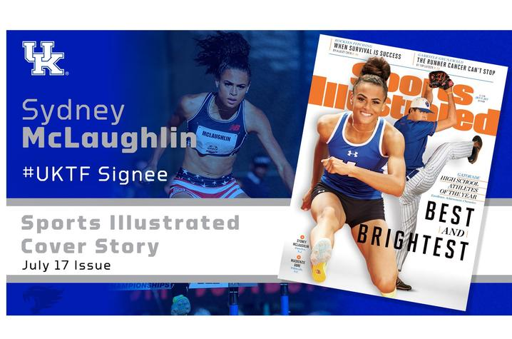 Sydney McLaughlin Sports Illustrated cover UK Athletics banner