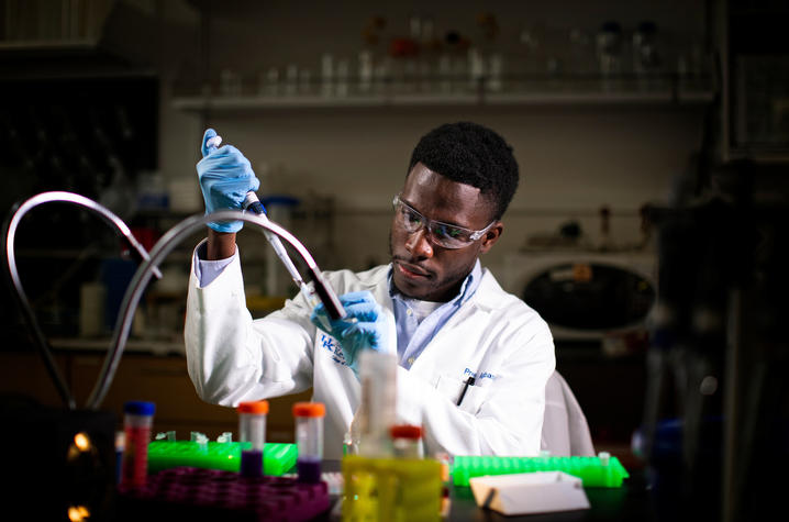 photo of man working in lab