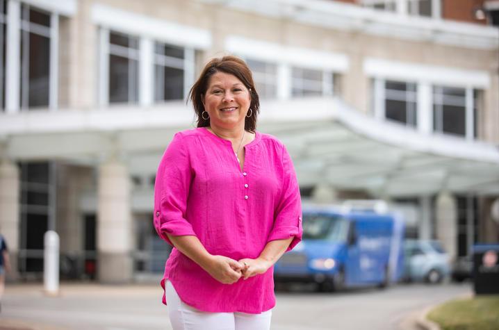 Jill Blake outside of UK Chandler Hospital. Pete Comparoni | UK Photo
