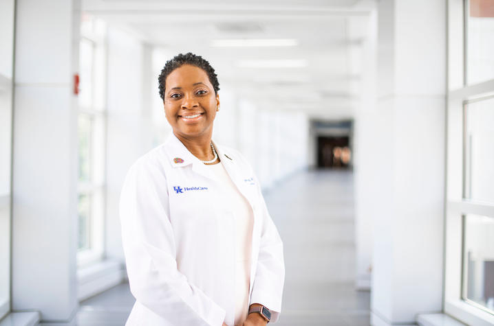 Dr. Ima Ebong was invited to serve on the American Academy of Neurology's special commission on Racism, Equity and Social Justice. Photo by Pete Comparoni   UKphoto
