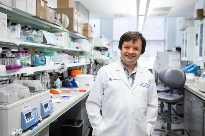 UK researcher Jeremy Wood is co-leading research that may provide answers for why so many COVID-19 patients experience blood clotting. Pete Comparoni   UK Photo.