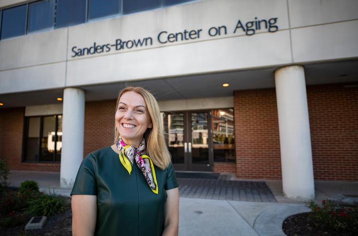 Maj-Linda Selenica, Ph.D. of UK's Sanders-Brown Center on Aging. Photo by Pete Comparoni   UKphoto