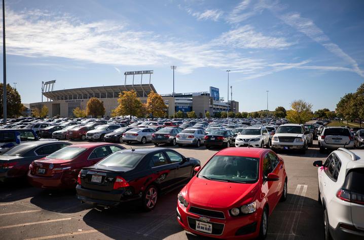 Kroger Field parking lot.