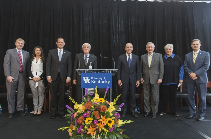 Speakers at the announcement of the Clinical and Translational Science Award, at the University of Kentucky on October 26, 2016
