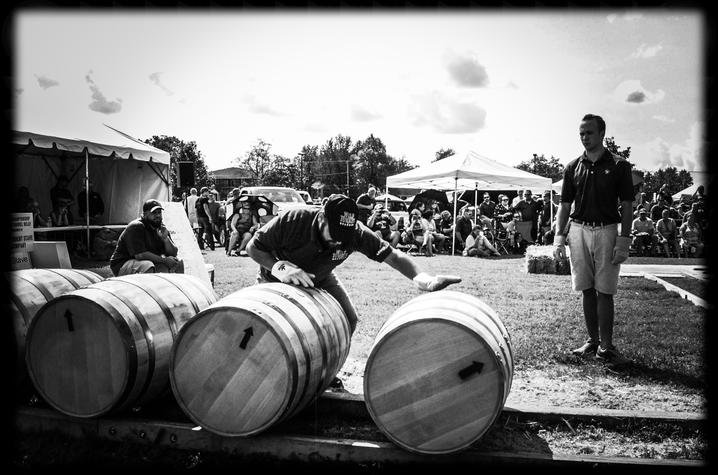 black and white Alethea Devary photo of barrel roll