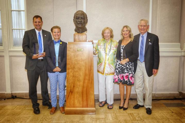 photo of 2017 Clements Award winners and Bess and Tyler Abell