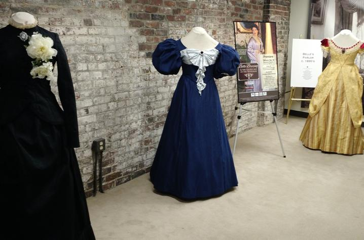 "photo of 3 dresses by Nelson Fields for ""Belle Brezing and the Gilded Age of the Bluegrass"""