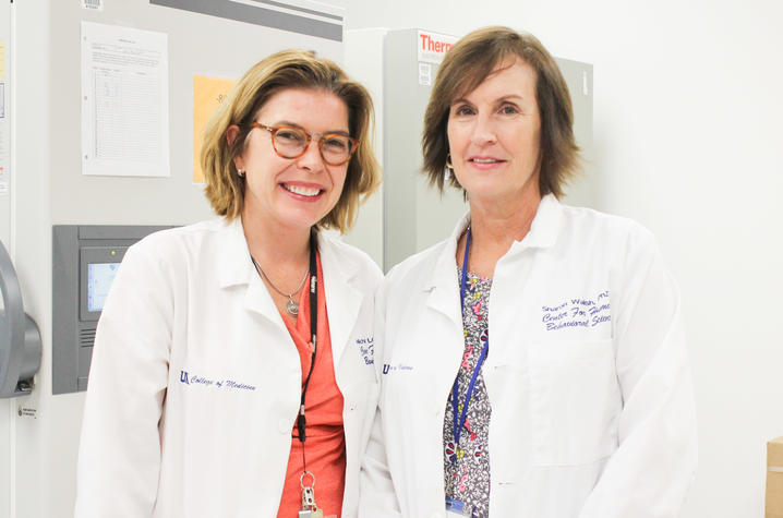 Dr. Michelle Lofwall (left) and Dr. Sharon Walsh (right) | Photo Courtesy Hilary Brown