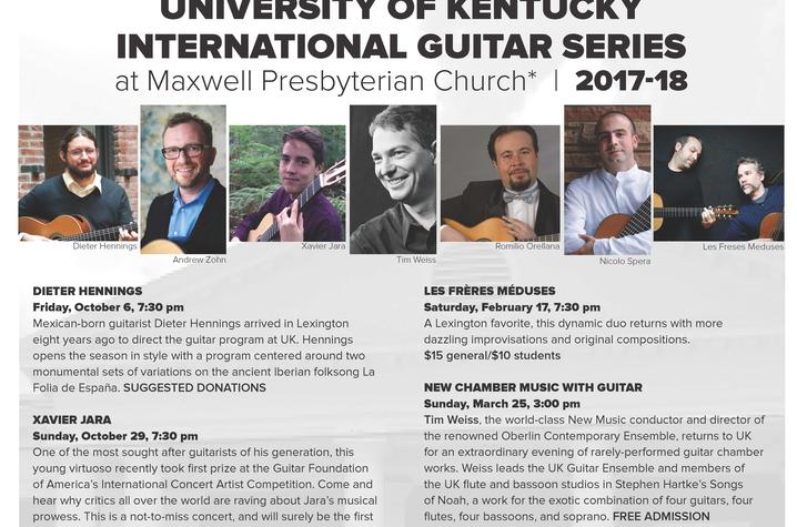photo of 2017-18 International Guitar Series poster