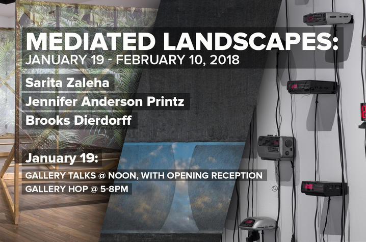 "photo of ""Mediated Landscapes"" poster"