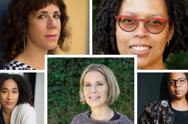 photos of 5 Kentucky Women Writers Conference presenters - Jami Attenberg, Evie Shockley, Bridgett Davis, Darcey Steinke and Mariama Lockington