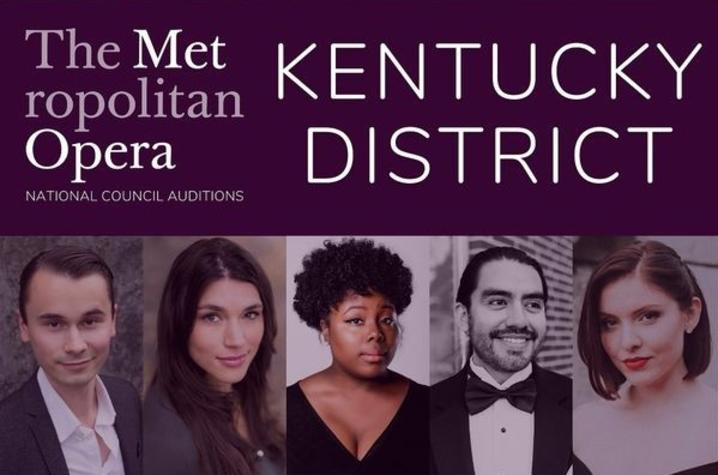 banner of photos of the 5 Encouragement Award winners at the 2020 Kentucky District Metropolitan Opera auditions