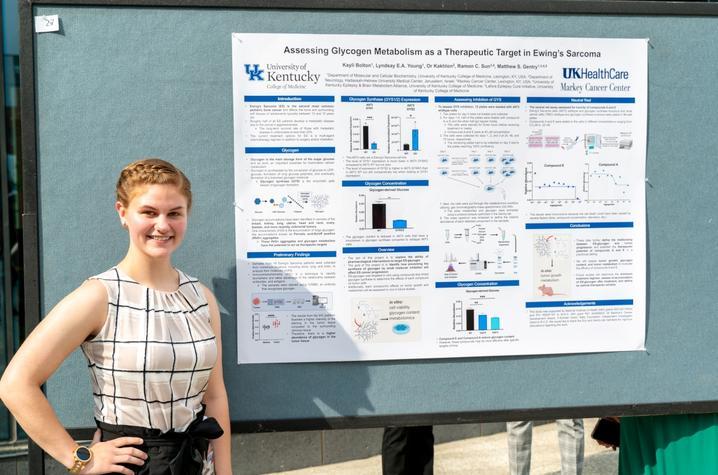 photo of Kayli Bolton presenting research at Markey STRONG Scholars Program