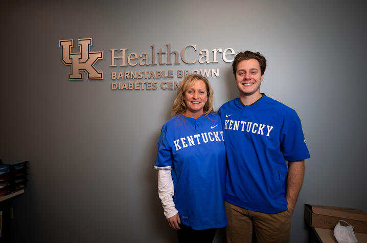 Tammy and Dillon Marsh at the Barnstable Brown Diabetes Center. Photo by Pete Comparoni | UKphoto