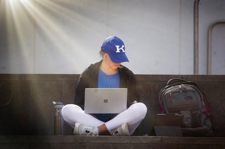 Photo of Student on Laptop