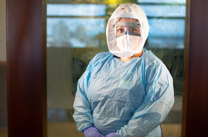 image of nurse in protective gear