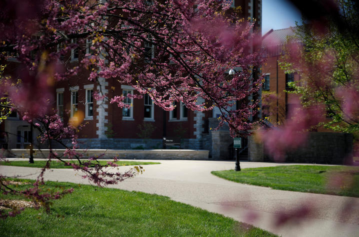 Photo of campus in the spring