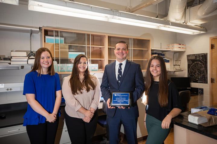 Patrick Hannon with student nominators