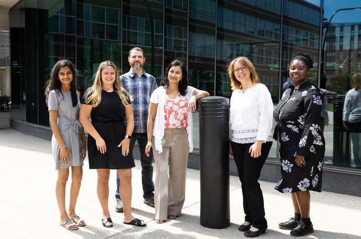 The team includes researchers (left to right) Anu Annabathula, Jacklyn Vollmer, W. Jay Christian, Shyanika Rose, Judy van de Venne and Ariel Arthur. Mark Cornelison | UK Photo.