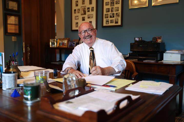 photo of Ben C. Kaufmann at his desk