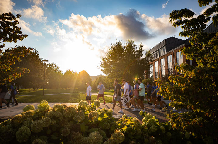 UK Students Head to Campus Ruckus on August 19, 2021.