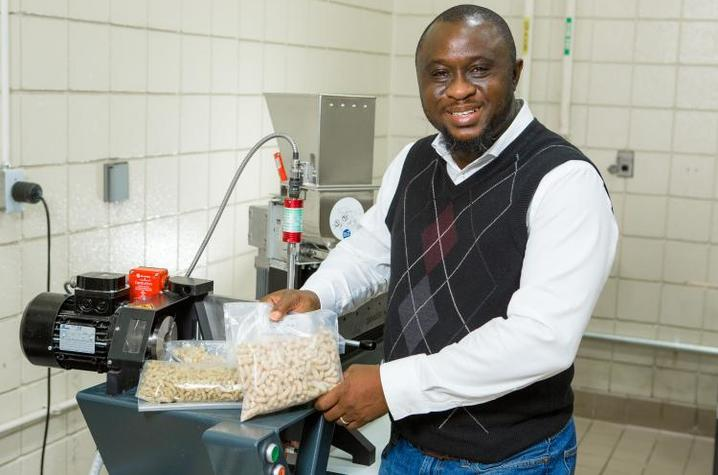 Food engineer Akinbode Adedeji, pictured here in his UK lab