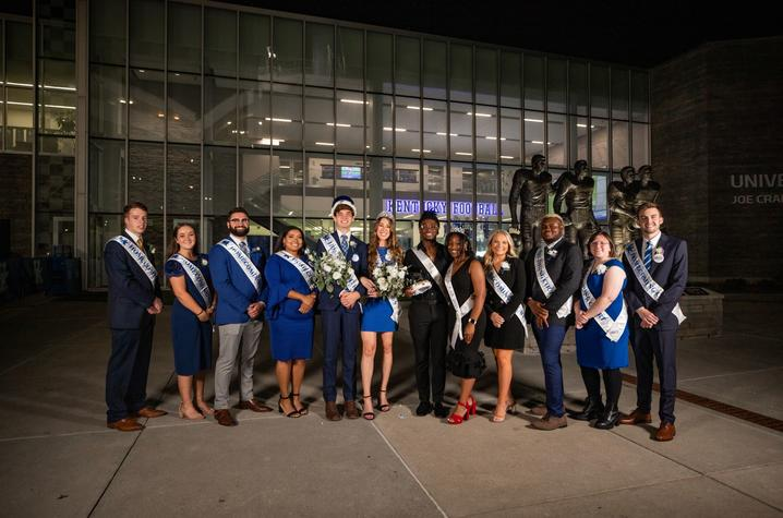 photo of 2021 Homecoming Court and Mr. and Ms. Black UK