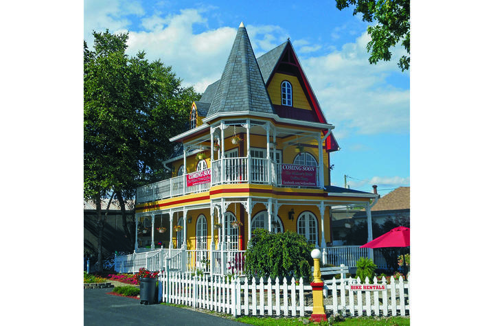 "photo of primarily yellow house in New Albany, Indiana, from ""Chromatic Homes"""