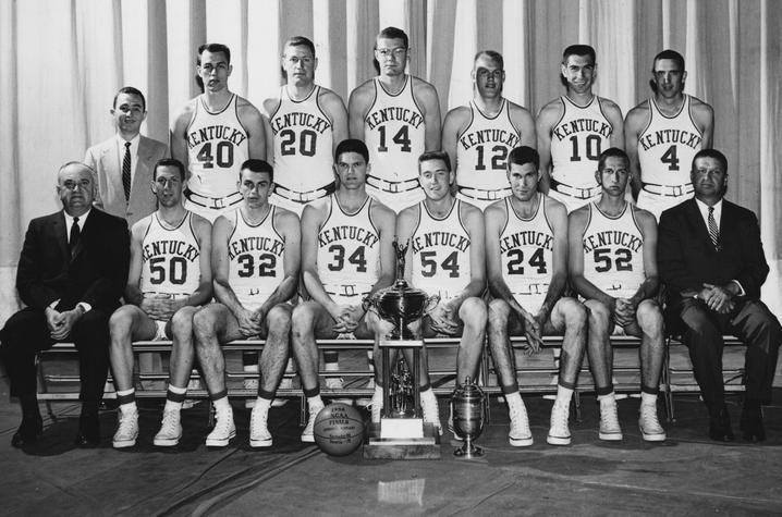 photo of 1957-58 UK Basketball team