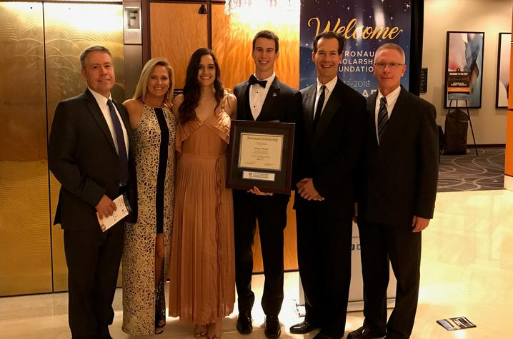 photo of Joshua Preston with family and friends at ASF Innovators Gala