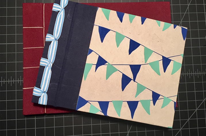 photo of sample from bookmaking Fine Arts Institute class