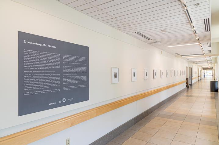 Photo of gallery corridor