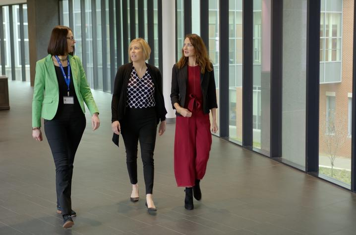 Daniela Moga, Christal Badour and Mairead Moloney were connected through the Building Interdisciplinary Research Careers in Women's Health (BIRCWH) program at the University of Kentucky.