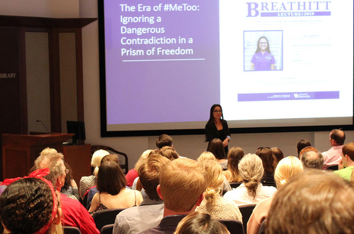 photo of Tiana The giving Breathitt Lecture in 2019