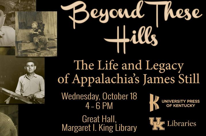 "photo of ""Beyond These Hills: The Life and Legacy of Appalachia's James Still"" postcard"