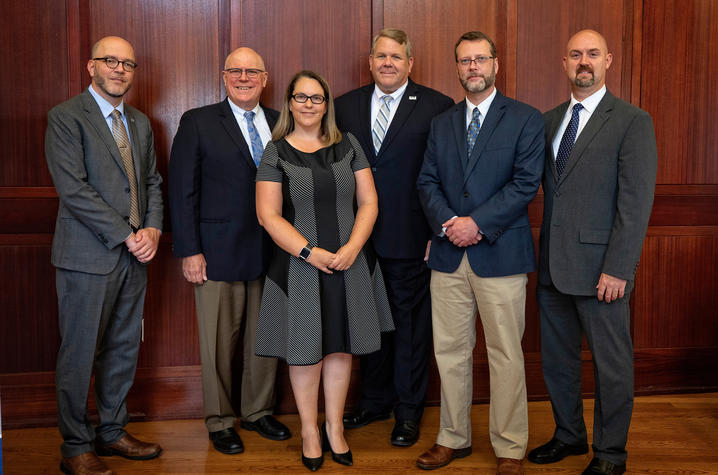 photo of Doug Way, UK Libraries, Provost David Blackwell, Associate Provost Christine Harper, Somerset Community College President Carey Castle, SCC Sr. Vice President Clint Hayes and Trent Pool, director of the University Center of Southern Kentucky