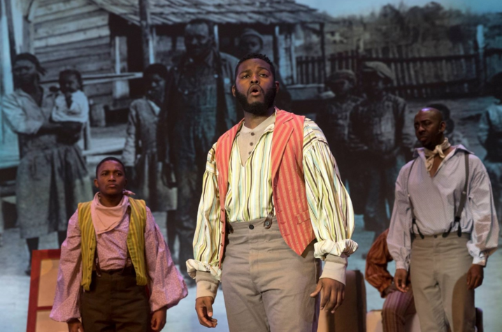 "photo of Blake Denson performing in UK Opera Theatre's ""Show Boat"" at Singletary Center"